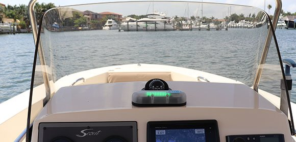 SFD-1000 Storm Front & Lightning Detector on a Boat
